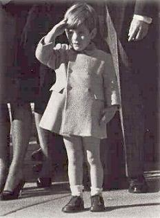 John F. Kennedy Jr. salutes his father